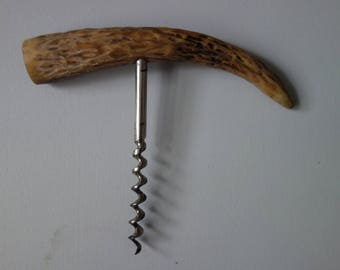 Vintage horn handle corkscrew