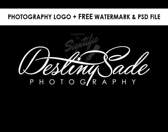 Photography logo, FREE watermark, black and white logo design, photographer watermark, photo signature, business logo design, creative logo