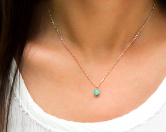 Simple gemstone Collar Necklace, Dainty Gemstone Choker or long Layering Necklace / 14k Gold Filled, Rose Gold or Sterling Silver ZN00320