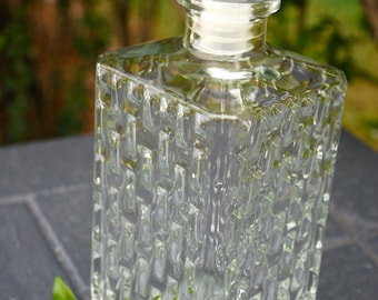 French Textured Glass Decanter