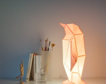 Small Penguin - DIY Paperlamp ( pre-cut papercraft kit, DIY paper lamp )