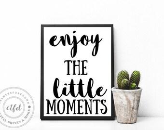 Enjoy The Small Things Typography 8x10 Digital Print