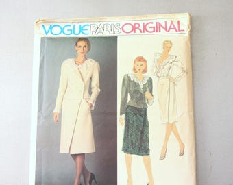 Vintage Vogue Paris Original Designer Chloe Pattern 2567 Size 16, Misses' Jacket, Skirt and Blouse, uncut and factory folded