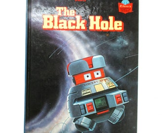 The Black Hole 1979 Vintage Book, Science Fiction, Adventure Stories, Spaceships, Rockets, Robots, SciFi