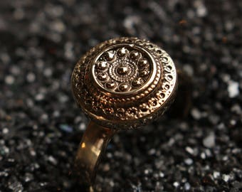 Alice - Bronze handmade ring - ring discreet - Lewis Carroll's old England
