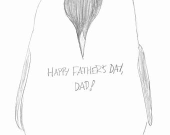 Fathers Day Card - Penguin