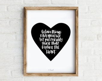 Art Print, Hand-lettering, Inspirational Print, Proverb, Home decor