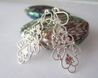 Silver Frost earrings