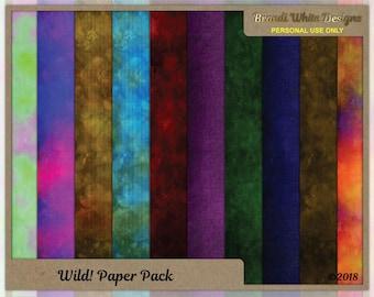 Digital Scrapbooking Background Paper: Wild Blends
