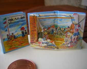 Am Meeresstrand 1to12 Miniature pop-up book