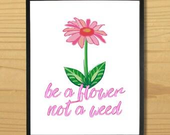 Flower Wall Art, Garden Print, Gardening Art, Nature Print, Garden Humor Print, Spring Art, Daisy Print, Digital Download