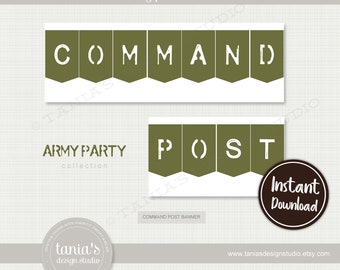 Army - Toy Soldier - Command Post Banner - Instant Download - by Tania's Design Studio