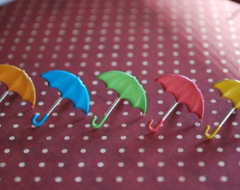 Umbrella Earrings -- Cute Umbrella Studs, Colorful, Mary Poppins Earrings, You Choose the Color!