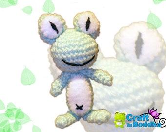 Amigurumi Frog Crochet Key Chain