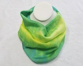 "Hand Dyed Habotai Silk Scarf - Machine Hemmed - 8"" x 54"""
