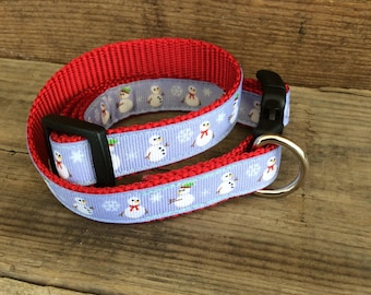 Snowmen Christmas Dog Collar