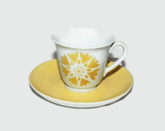 70's Arabia cup and saucer, Made in Finland