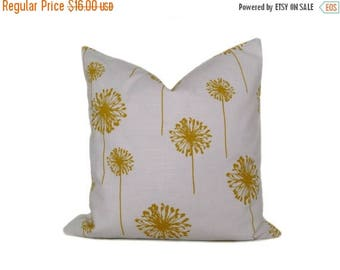 15% Off Sale Pillow Yellow Pillow Decorative Throw Pillow Covers 16x16 Pillow Dandelion Pillow Yellow White Pillow Printed fabric both sides