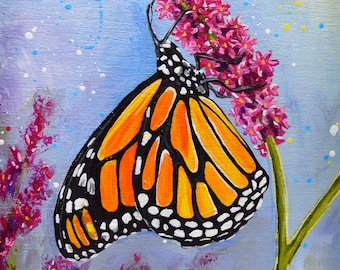 Original Monarch Butterfly Acrylic Painting