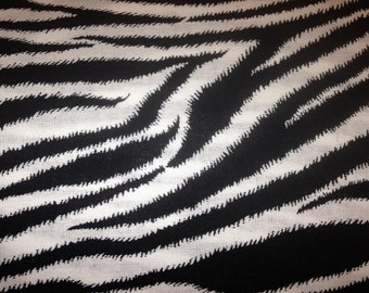 Zebra Print Table Runner - Black and White