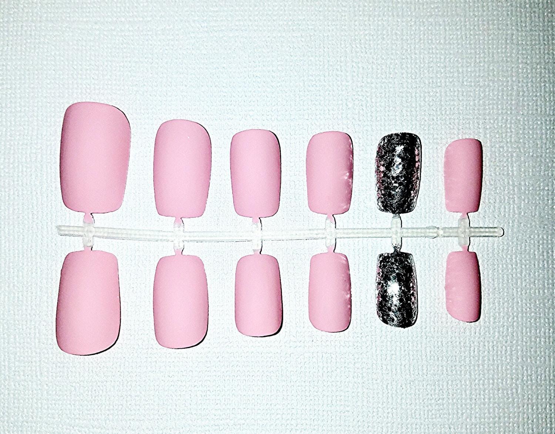 Pink Matte Fake Nail Set- Press on Nails- Glue on Nails- Acrylic ...