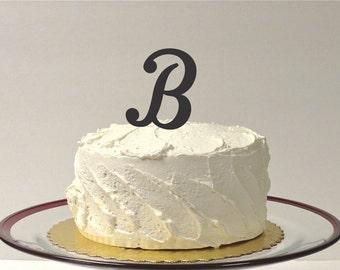 MONOGRAM INITIAL B - Wedding Cake Topper  Personalized Monogrammed Wedding Cake Topper Custom Cake Topper Any Letter