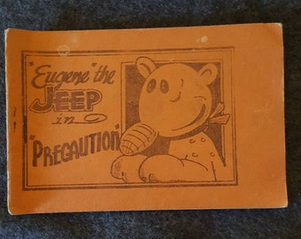 "Tijuana bible. Eight pager. ""Eugene"" the Jeep in ""Pregaution"""