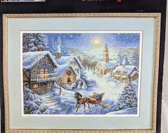 Dimensions The Gold Collection ~ SLEIGH RIDE ~ Christmas Counted Cross Stitch Kit ~ Rare Collectable Heirloom Kit