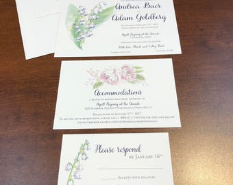 Watercolor Flower Invitation