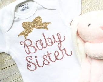 Newborn Onesie,Baby Sister Outfit,Newborn Clothes,Baby Girl Onesie,Baby Clothes,Little Sister Onesie,Baby Shower Gift,Sibling Clothes