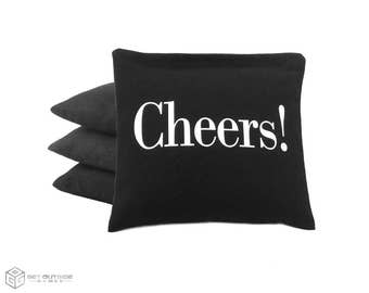 4 Cheers! Classic Series Cornhole Bags   Corn or All Weather with Color Options