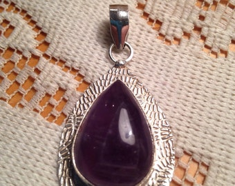 Amethyst Necklaces / Sterling Silver Necklaces / Artisan Jewelry (Item#EP443)