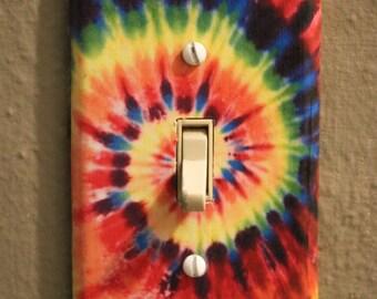 Colorful Tie Dye Hippie Light Switch Plate