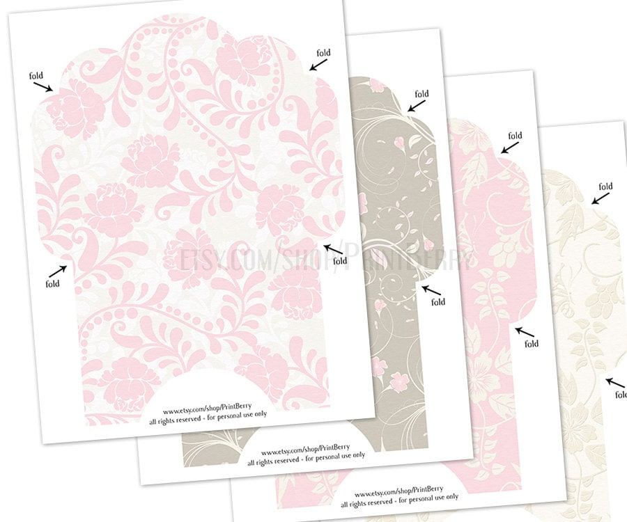 Floral Envelopes X Envelopes Printable Envelope Template Pastel