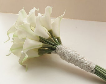 Bridesmaid Bouquets, Ivory Calla Lily bridesmaid bouquet, Bridal Bouquet, wedding bouquet