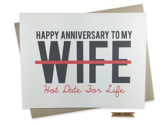 Funny Anniversary Card for Wife Wedding Anniversary Card to