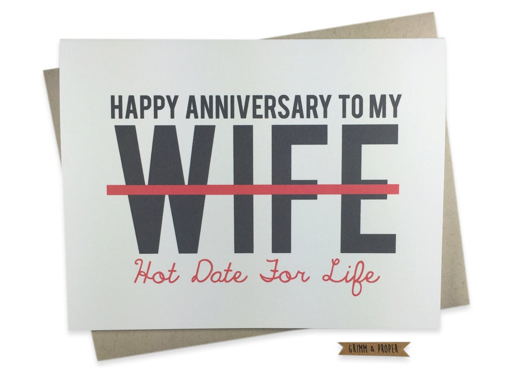 zoom Funny Anniversary Card for Wife Wedding