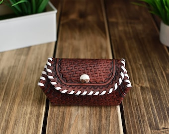 Leather coin purse, coin purse woman, embossed coin purse,leather gifts, Valentines gift, great gift for women