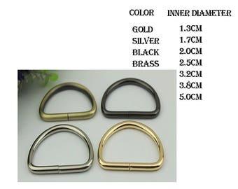 50 pieces D ring ( 7 SIZE  4 FOLOR)  XY073