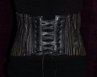 Leather Distressed Underbust Corset