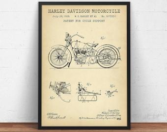 Harley davidson motorcycle blueprint art motorcycle patent harley davidson motorcycle patent print motorcycle poster printable boys room decor motorcycle enthusiast malvernweather Gallery
