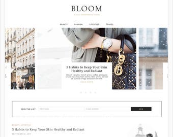 "Wordpress Theme, Wordpress Responsive Blog Theme Design ""Bloom"" - Genesis Website Theme"