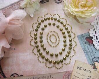 5 Spellbinders Nestabling Self Adhesive Olive Green Frames For Scrapbooking Mini Albums Paper Crafts Cards and DIY