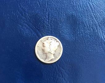 1940 D Mercury Head Dime