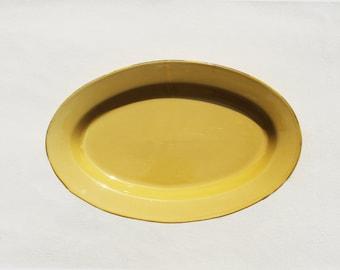 Grande Gamboge Ceramic Oval Serving Platter