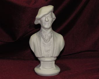Ceramic Bisque U-Paint Bust Richard Wagner Unpainted Ready to Paint DIY Composer Musician Classical Music Vintage PYOP