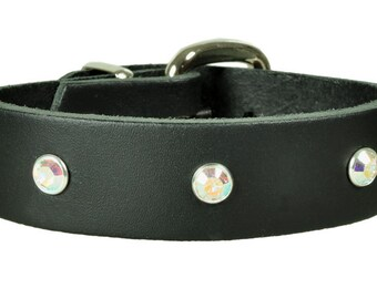 "Leather bracelet ""swarovski"""