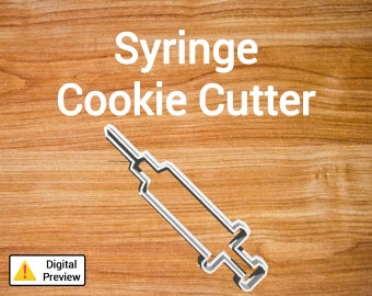 "4"" Syringe Cookie Cutter (Object Set)"