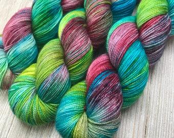 Coastal Cocktail - Super Sock - Indie Sock Yarn, Indie Dyed Yarn, Speckled Sock Yarn, Hand Dyed Yarn, Rainbow Sock Yarn, Indie Speckled Yarn