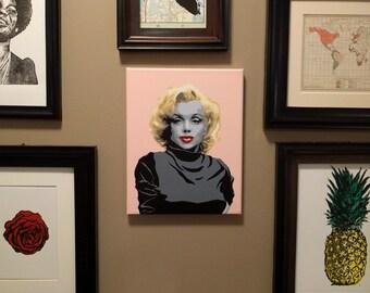 Marilyn Monroe Pink Painting